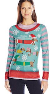 Women's Wiener Wonderland Christmas sweater
