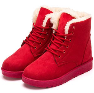 Lace Up Ankle Snow Boots