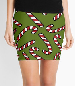 Candy Cane Pencil Skirt