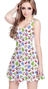 Christmas Pattern Summer Dress