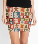 Women's Christmas Pattern Pencil Skirt