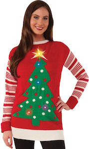 Light Up Tree Christmas Sweater