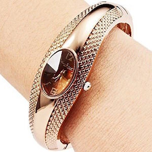 Gold Color Bangle Watch