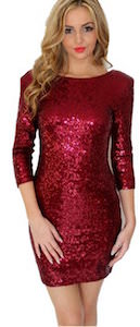 women's Red Sequin Dress
