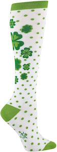 St Patrick's Day Shamrock Knee High Socks