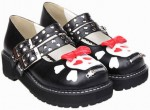 Black Skull Mary Jane Shoes