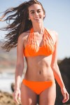 Strappy Halter Bikini Set