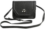 Black Music Note Crossbody Handbag