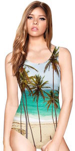 Palm Trees On The Beach Swimsuit