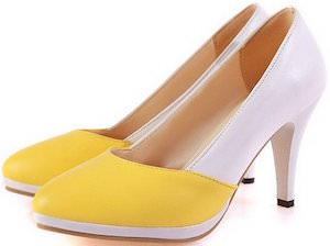 White And Yellow Heels