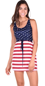 Sleeveless American Flag Dress