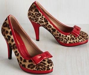 Leopard Print And Red Pumps