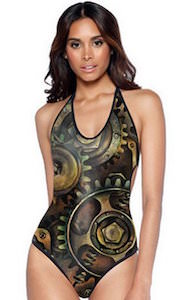 Steampunk Gears Monokini Swimsuit