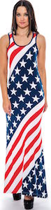 American Flag Long Summer Dress