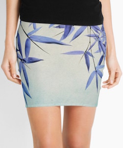 Bamboo Leaves Mini Skirt