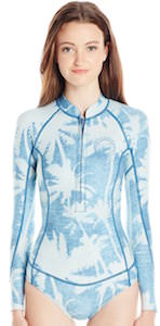 Billabong Salty Daze Long Sleeve One Piece Swimsuit