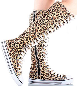 Leopard Print Sneaker Style Boots