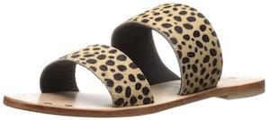 Leopard Print Strap Sandals