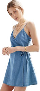 Women's Spaghetti Strap Denim Summer Dress