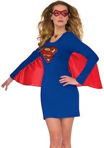 Supergirl Caped Dress Costume