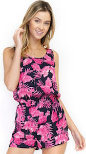 Pink Floral Romper for women