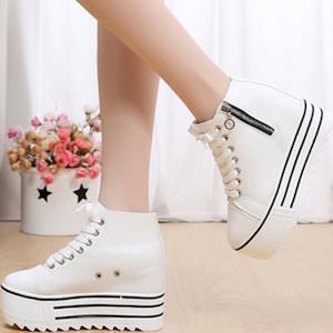 Platform Sneakers With Hidden Heel