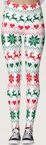 Fair Isle Christmas Print Leggings