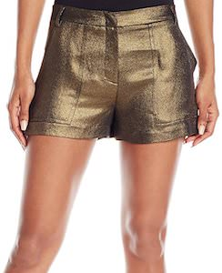 Metallic Gold Shorts