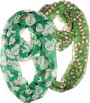 Snowman And Candy Cane Christmas Infinity Scarf