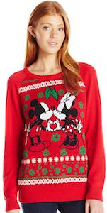 Mickey And Minnie Heart And Kiss Christmas Sweater