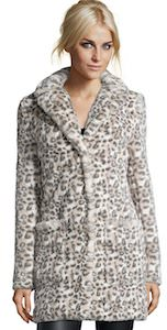 Women's Faux Snow Leopard Coat