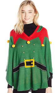 Elf Costume Christmas Poncho