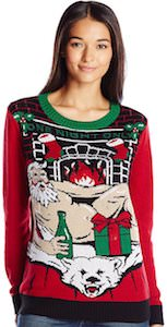 Naked Santa Christmas Sweater With Lights