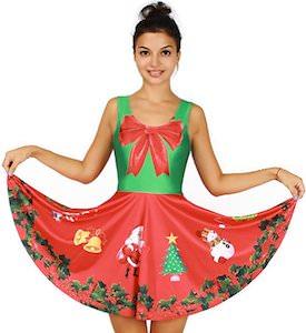 Big Red Bow Christmas Dress