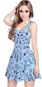 Music Notes Skater Style Dress