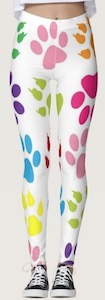 Women's Colorful Paw Print Leggings