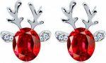 Christmas Red Nosed Reindeer Earrings