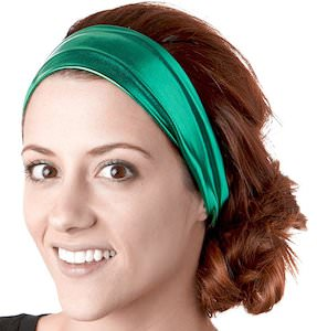 women's Green Metallic Headband