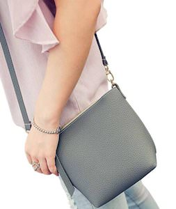 Small Fake Leather Shoulder Bag
