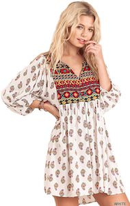 Women's Bohemian Look Tunic Dress