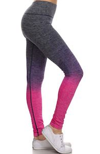 Two Tone Grey To Pink Leggings