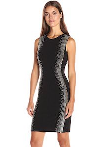 Calvin Klein Black Sheath Dress With Sparkle
