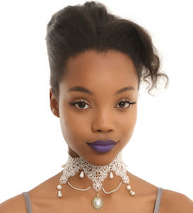 Lace And Pearls Choker Necklace