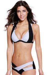 Criss Cross Bandage Duo Tone Bikini