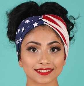 Stretch US Flag Headband