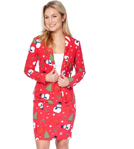 Women's Red Christmas Suit