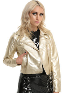 Gold Motorcycle Jacket