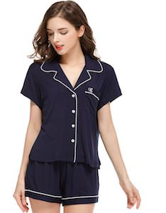 Women's Classic Look Shorts And Shirt Pajama Set