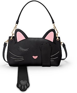 Faux Leather Cat Handbag