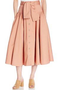 Rebecca Taylor Long Belted Skirt